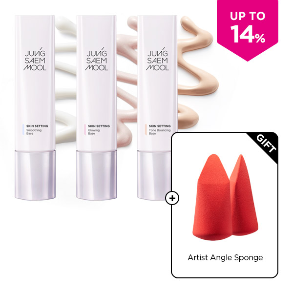 Skin Setting Base 3type +sponge set